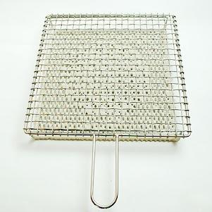 金網つじ 手付きセラミック付き焼き網