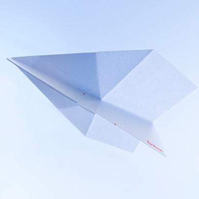 テラダモケイ よく飛ぶ紙飛行機便箋(Par Avion)