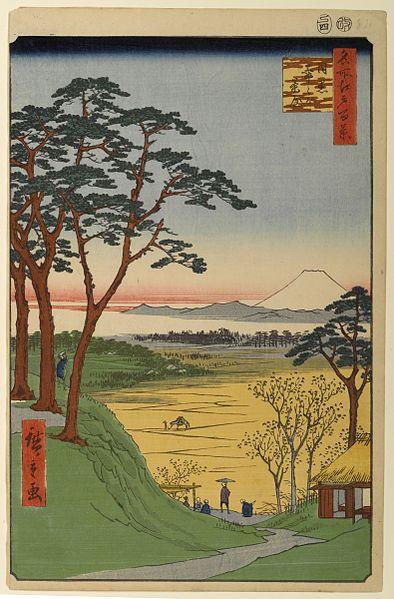 名所江戸百景 目黒爺々が茶屋