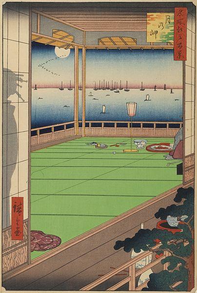 名所江戸百景 月の岬