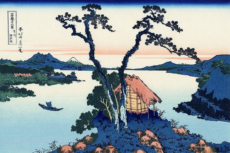 富嶽三十六景 信州諏訪湖