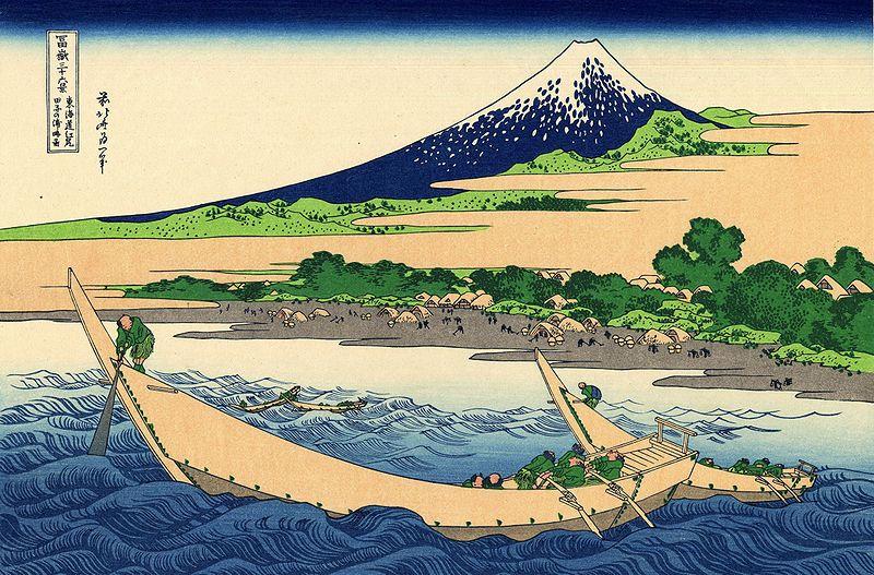 富嶽三十六景 東海道江尻田子の浦略図