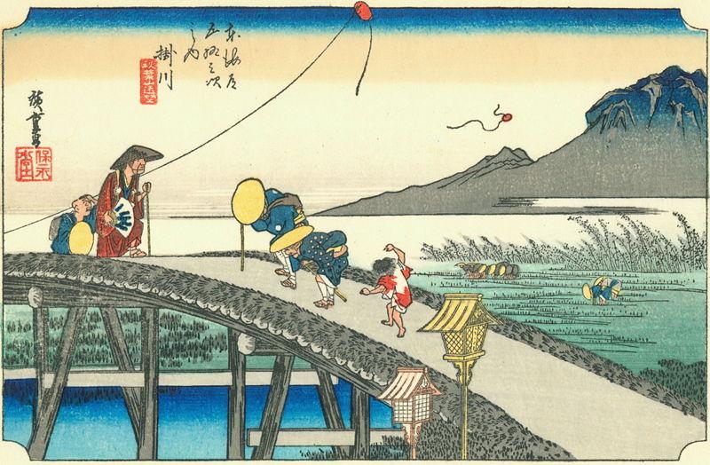 東海道五十三次 掛川