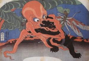 蛸と熊の相撲