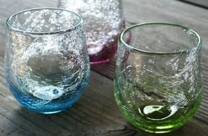 萩ガラス工房   内ひび貫入ガラス