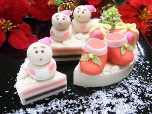 梅月  和菓子のクリスマスケーキ