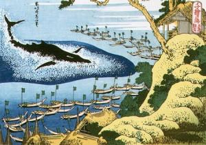 千絵の海 五島鯨突 葛飾北斎