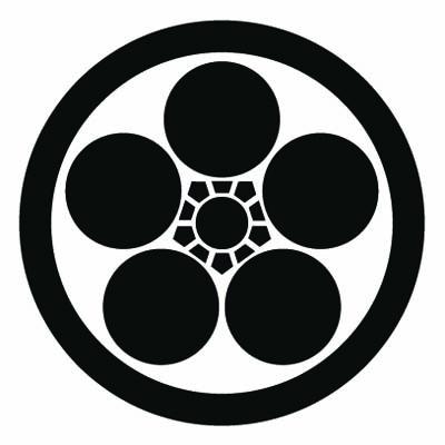 丸に梅鉢紋 PLUM BLOSSOM