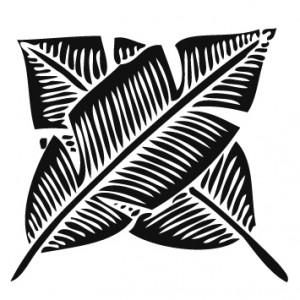 違い芭蕉紋 PLANTAIN