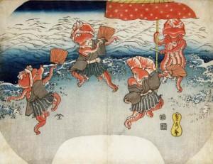 蛸踊り  歌川国芳