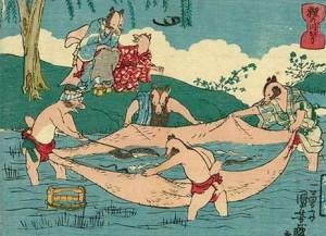 狸の川がり 歌川国芳