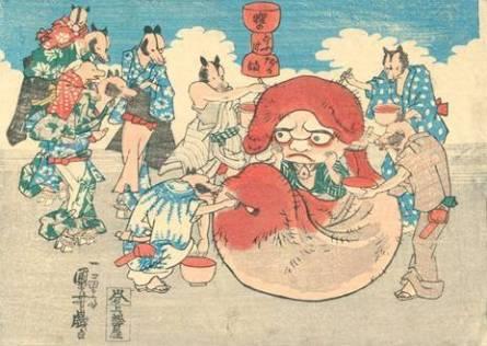 狸のどふけだるま 歌川国芳