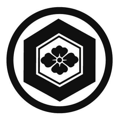 丸に亀甲に花菱紋 FUSIL