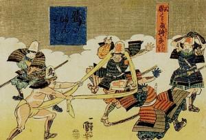 駒くらべ 将棋の戯れ 桂馬のふんどし  歌川国芳
